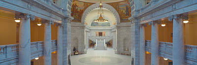 Rocky Mountain States Photograph - Interior Of Utah State Capitol, Salt by Panoramic Images