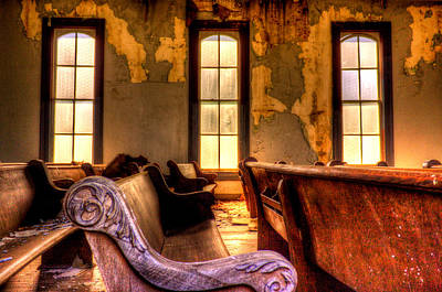 Photograph - Interior Old Church by Jonny D
