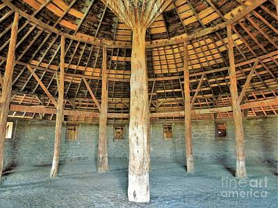 Photograph - Interior Peter French Round Barn by Michele Penner
