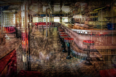 Tv Commercials Photograph - Interior Photo Of Rosie's Diner by Randall Nyhof