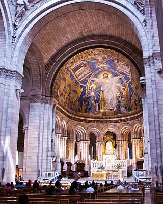Sacre Coeur Photograph - Interior Sacre Coeur Basilica Paris France by Jon Berghoff
