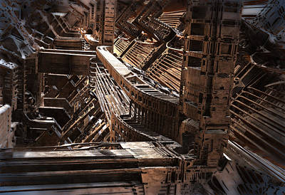 Digital Art - Interior Support Structure by Hal Tenny