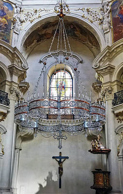 Photograph - Interior View Of St. Nicholas Church In Prague by Richard Rosenshein