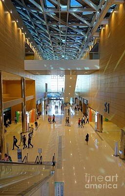 Photograph - Interior View Of The Kaohsiung Exhibition Center by Yali Shi