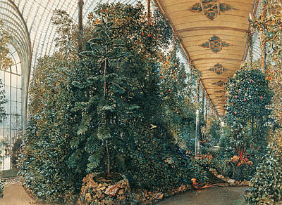 Interior View Of The Palm House Of Chateau Lednice Art Print