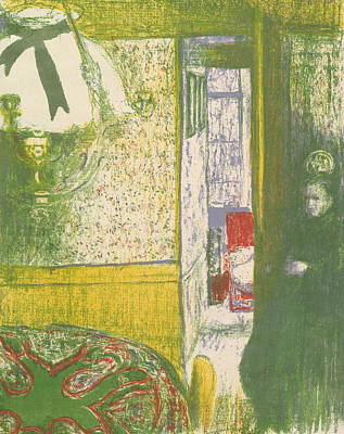 Interior With A Hanging Lamp, From The Series Landscapes And Interiors Art Print