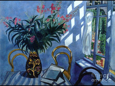 Interior With Flowers Art Print