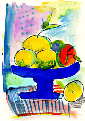 Painting - Interior With Lemons And Orange by Amara Dacer