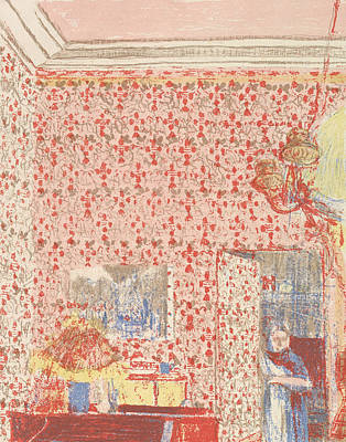 Interior With Pink Wallpaper I, From The Series Paysages Et Interieurs Art Print