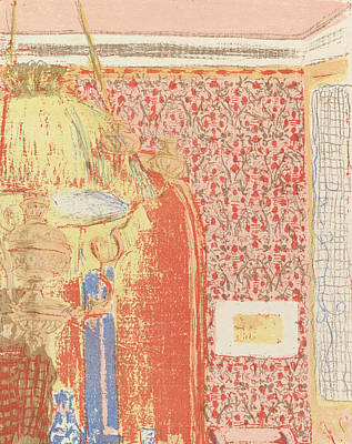 Relief - Interior With Pink Wallpaper II, From The Series Landscapes And Interiors by Edouard Vuillard