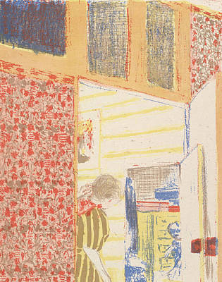 Relief - Interior With Pink Wallpaper IIi, From The Series Landscapes And Interiors by Edouard Vuillard