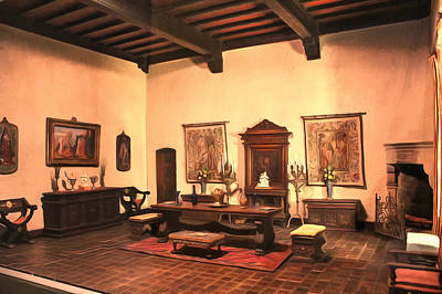 Wash Room Digital Art - Interiors - Tuscany by Dan Stone