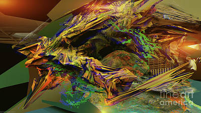 Digital Art - Interlaced Fluctuations Series #14 by Dennis Doty