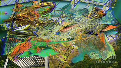 Digital Art - Interlaced Fluctuations Series #15 by Dennis Doty