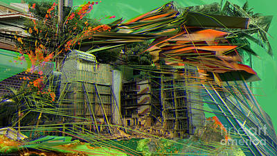 Digital Art - Interlaced Fluctuations Series #20 by Dennis Doty