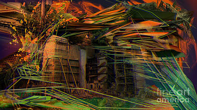 Digital Art - Interlaced Fluctuations Series #21 by Dennis Doty
