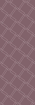 Drawings Royalty Free Images - Interlock Mauve Royalty-Free Image by Cortney Herron