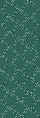 Drawings Royalty Free Images - Interlock Teal Royalty-Free Image by Cortney Herron
