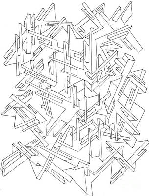 Drawing - Interlocked by Nancy Kane Chapman