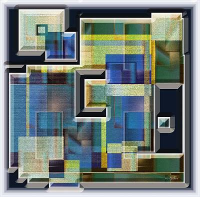 Interlocking Digital Art - Interlocking 3 by Iris Gelbart