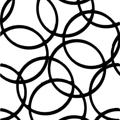 Digital Art - Interlocking Black Circles Artistic Design by Taiche Acrylic Art