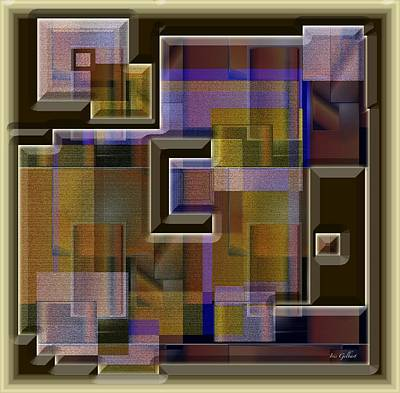 Interlocking Digital Art - Interlocking by Iris Gelbart