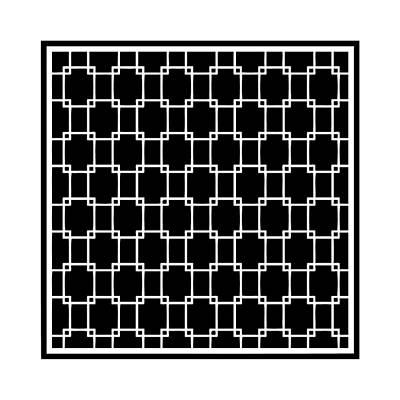 Interlocking Digital Art - Interlocking Rectangular With Border In Black by Custom Home Fashions