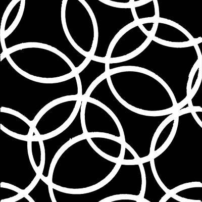 Digital Art - Interlocking White Circles Artistic Design by Taiche Acrylic Art