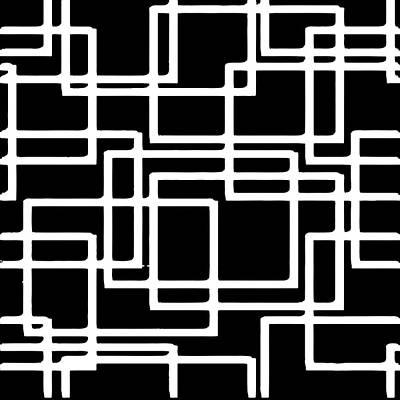 Digital Art - Interlocking White Squares Artistic Design by Taiche Acrylic Art