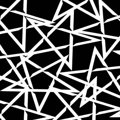 Digital Art - Interlocking White Star Polygon Shape Design by Taiche Acrylic Art