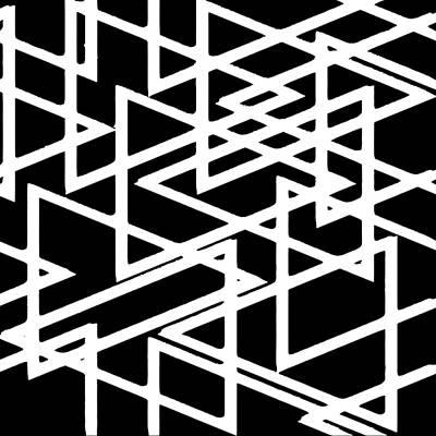 Digital Art - Interlocking White Triangles Artistic Design by Taiche Acrylic Art