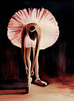 Dance Ballet Roses Painting - Interlude by Elizabeth Robinette Tyndall