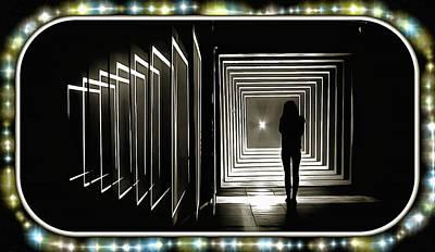 Tron Digital Art - Intermission Between Gates by Mario Carini