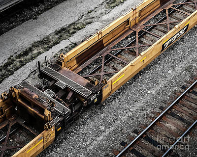 Photograph - Intermodal Well Car by Brad Allen Fine Art
