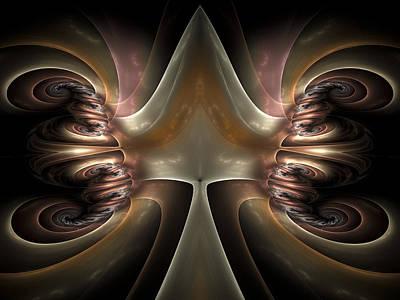 Fractal Geometry Digital Art - Internal Activity by Amorina Ashton