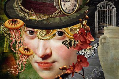 Surrealism Digital Art - Internal Warfare by Ally White