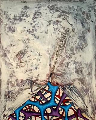 Internally Unzipped Art Print by Nancy Mueller