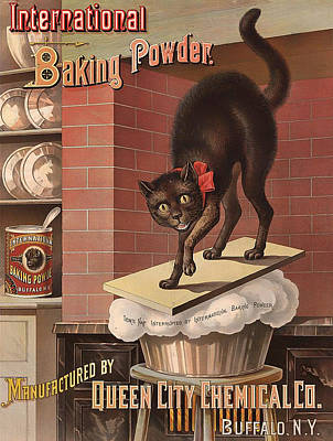 1880s Drawing - International Baking Powder 1885 by Mountain Dreams