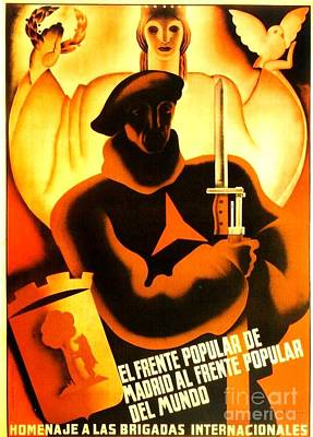 International Brigade Homage Art Print by Roberto Prusso