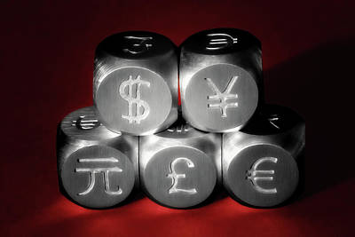 Finance Photograph - International Currency Symbols II by Tom Mc Nemar