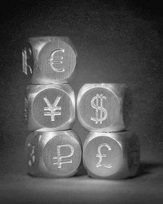 Finance Photograph - International Currency Symbols by Tom Mc Nemar