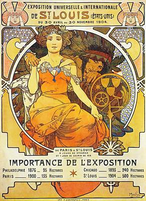 Painting - International Exposition At St. Louis by Alphonse Mucha