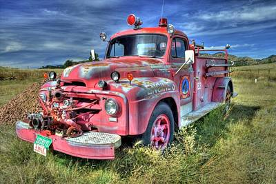 Photograph - International Fire Truck by Tony Baca