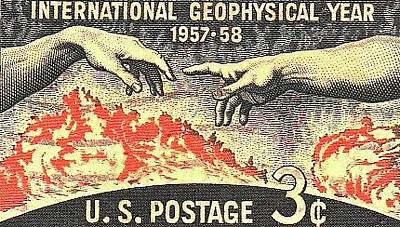 Digital Art - International Geophysical Year Stamp by Robert Grubbs