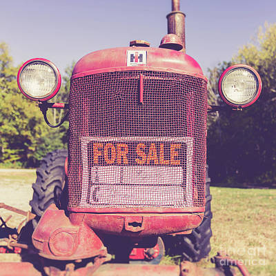 Photograph - International Harvester Farmall Cub Vintage Tractor by Edward Fielding