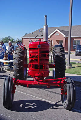 Photograph - International Harvester Farmall Red Tractor Front by Robyn Stacey