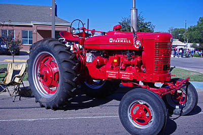 Photograph - International Harvester Farmall Red Tractor by Robyn Stacey
