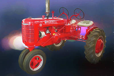 Photograph - International Harvester Farmall Two Seat Tractor by John Haldane