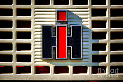 Machinery Photograph - International Harvester Logo by Olivier Le Queinec