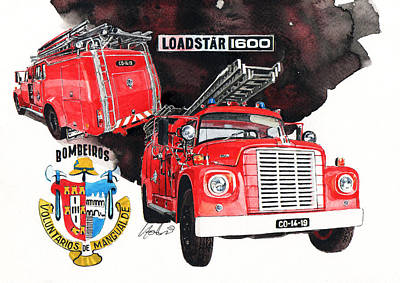 International Loadstar 1600 Fire Engine Art Print